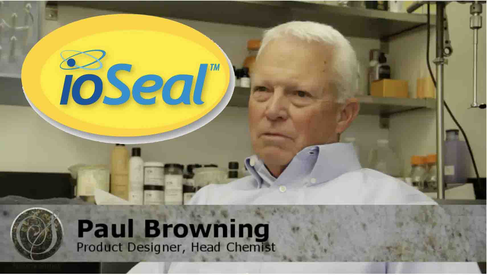 Pictured is Head Chemist and Product Designer of ioSeal.